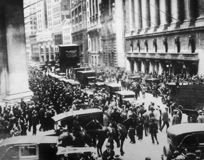 New York krach akciového trhu